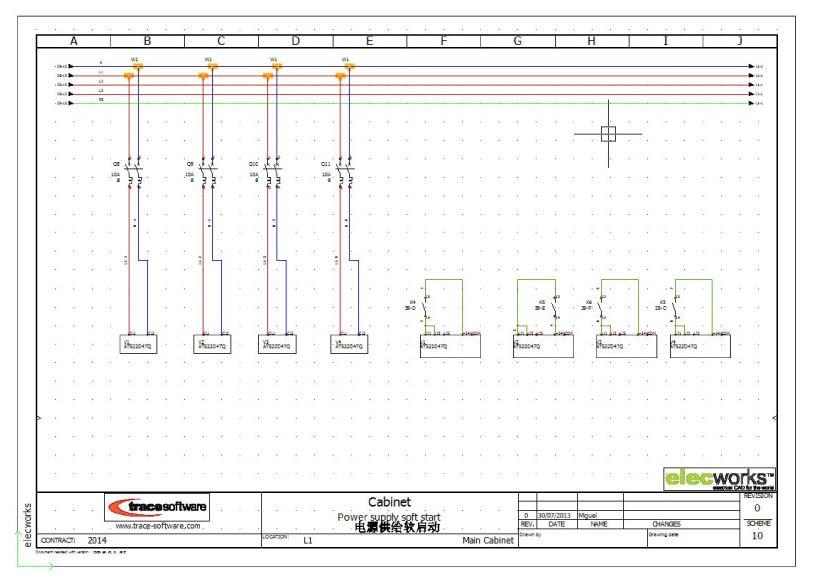 Conventional Control scheme in elecworks