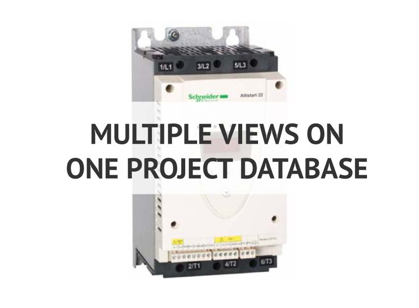 Multiple views on one project database in elecworks