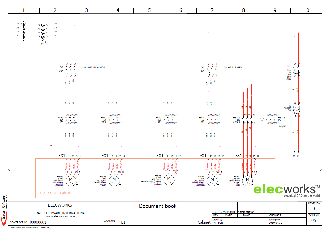 Power Control schematics in elecworks