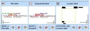 L'étiquette de localisation, de cable et d'équipotentielle sont paramétrables dans la configuration du projet